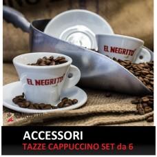 Tazze Cappuccino Logo El Negrito